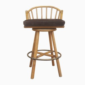 Vintage Swivel Bar Stool from McGuire