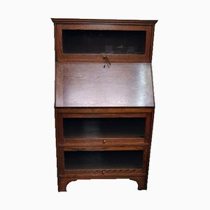 Vintage Oak Stacking Bookcase Desk