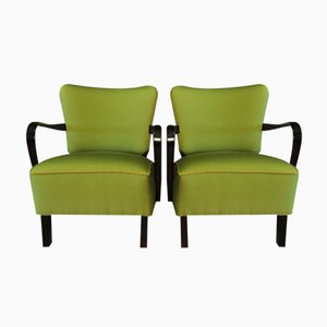 Fauteuils Cocktail Verts, 1950s, Set de 2