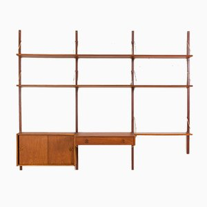 Danish Wall Unit with Desk and Cabinet in the Style of Poul Cadovius, 1960s