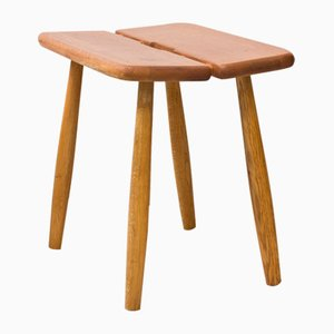 Swedish Oak Stools by Carl Gustaf Boulogner for AB Bröderna Wigells Stolfabrik, 1950s, Set of 2