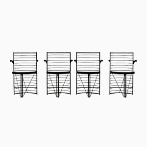 Postmoderne Esszimmerstühle, 1980er, 4er Set