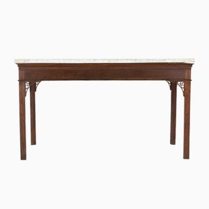 18th Century George III English Oak Console Table