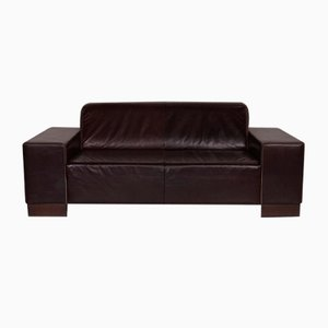 Dark Brown Leather 2-Seater Sofa from Tommy M by Machalke
