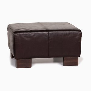 Dark Brown Leather Stool from Tommy M by Machalke