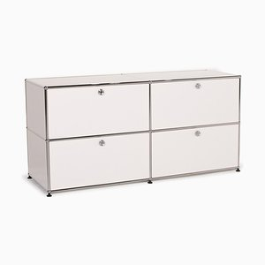 White Metal Sideboard Cabinet from USM Haller