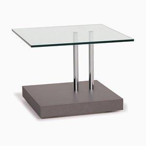 Mesa de centro modelo K4245 de vidrio en gris de Ronald Schmitt