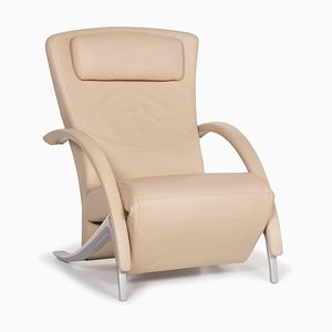 Cream Leather Model 3100 Armchair from Rolf Benz
