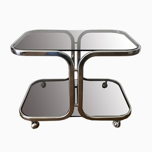 Chrome and Glass Bar Trolley, 1960s