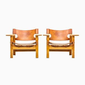 Spanish Chair by Børge Mogensen for Fredericia, Set of 2