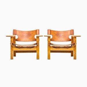 Spanish Chair von Børge Mogensen für Fredericia, 2er Set