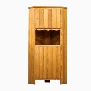 Pine Model Lovö Corner Cabinet by Axel Einar Hjorth for Nordiska Kompaniet