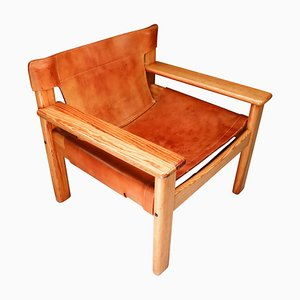 Swedish Patinated Lounge Chair by Karin Mobring for Ikea, 1970s