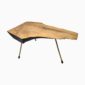 Austrian Sculptural Walnut Tree Trunk Coffee Table by Carl Auböck for Werkstätte Carl Auböck, 1950s