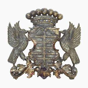 Mid-Century Decorative Gilt and Carved Coat of Arms