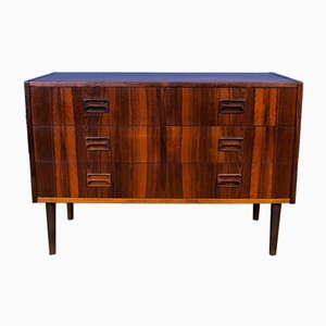 Mid-Century Danish Rosewood Low TV Stand Sideboard, 1970s