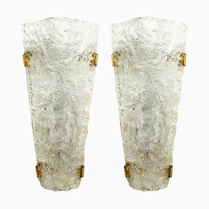 Bubble Murano Glass Sconces, 1960s, Set of 2