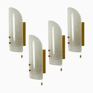 Mundgeblasene Murano Glas Wandleuchte von JT Kalmar, 1960er