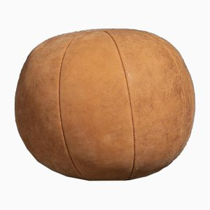 Vintage Tan Leather 3 Kg Medicine Balls, 1950s