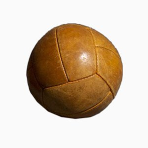 Vintage Tan Leather 1 Kg Medicine Ball, 1950s