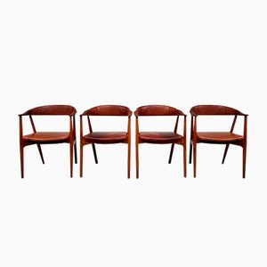 Mid-Century Danish Armchairs by Thomas Harlev for Farstrup Stolefabrik, Set of 4
