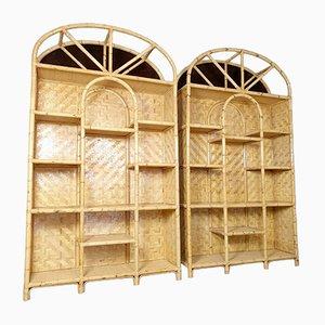Großer Vintage Raumteiler aus Bambus, 1980er