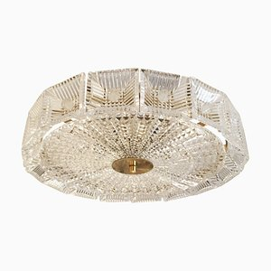 Mid-Century Crystal Pendant Lamp by Carl Fagerlund for Orrefors