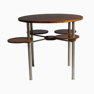Tavolino Bauhaus in acciaio tubolare, anni '30