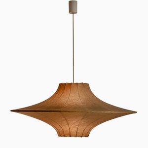 Lámpara colgante Cocoon italiana grande de Achille Castiglioni, años 60