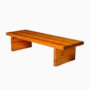 Solid Pine Bench by Roland Wilhelmsson, 1970s