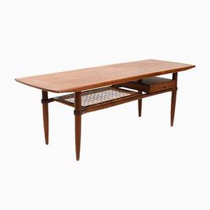 Table Basse Rectangulaire Mid-Century en Teck, Danemark, 1950s