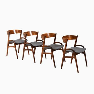 Danish Organic-Shaped Dining Chairs, 1960s, Set of 4