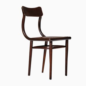 Antique Cognac Leather Side Chair by Michael Thonet, 1900s