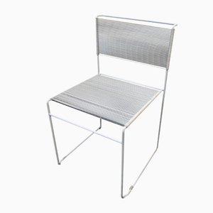 Mid-Century Italian White Spaghetti Chair