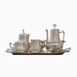 Antique Jugendstil Silver-Plated Breakfast Set from WMF, 1900s