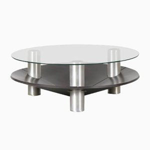 Dutch Round Aluminum Coffee Table, 1970s