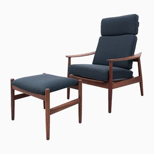 Danish Teak Lounge Chairs by Arne Vodder for France & Søn / France & Daverkosen, 1960s, Set of 2