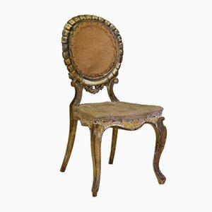 Chaise pour Enfant Dorée, 19ème Siècle