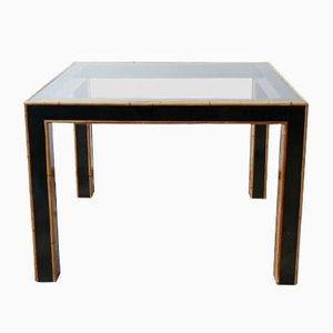 Mid-Century Bamboo Ebonized Conservatory Dining Table, 1960s