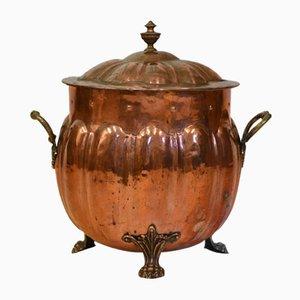 Edwardian Arts & Crafts Copper Coal Fireside Bucket