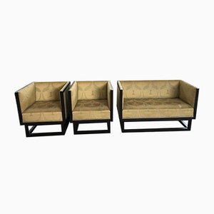 Sofa and Armchairs Set by Josef Hoffmann for Wittmann, 1920s