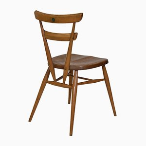 Mid-Century Green Dot Stacking Dining Chairs by Lucian Ercolani for Ercol, Set of 4