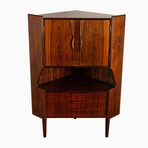 Vintage Danish Rosewood Corner Cabinet 1960s