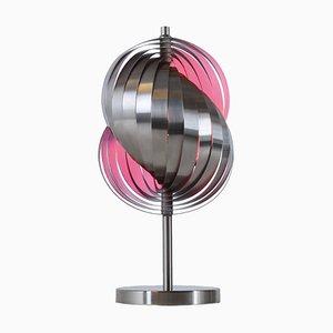 Lampada da tavolo a spirale in acciaio di Henri Mathieu per Lyfa, anni '70