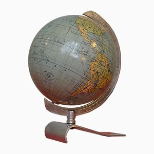 Art Deco Globe on Aluminum Stand from Columbus Oestergaard, 1950s
