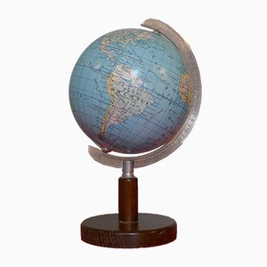 Art Deco Globe on Classic Dark Beech Stand from Columbus Oestergaard, 1970