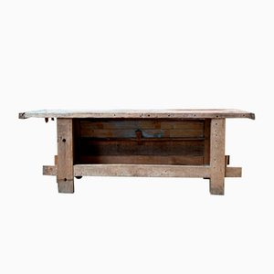 Vintage Wooden Workbench, 1930s