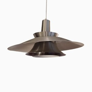 Vintage 4-Tiered Steel Ceiling Light, 1970s