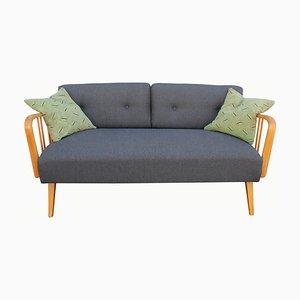 Sofá cama de antracita, años 50