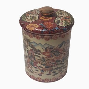 Chinese Cloisonne Lidded Box with Gold-Plated Knob, 1920s